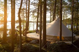 glamping forest sweden