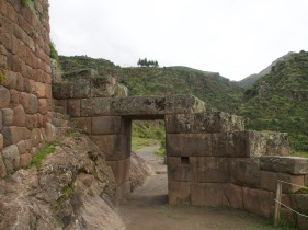 Incan door at Pisac ruins