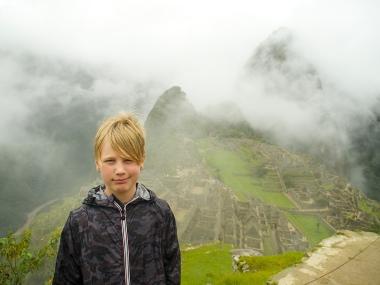 Caleb at Machu Picchu