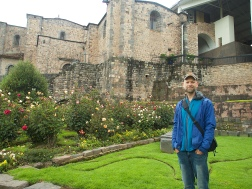 The garden's at Cusco's Inca Period Temple of the Sun (Qorikancha)