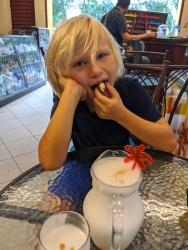 Kieran eyeing Wendy's Pisco Sour