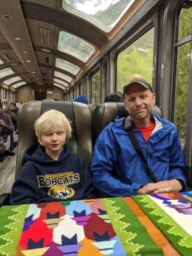 Me and my Dad on the train